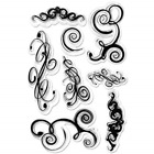 Forever In Time Clear Acrylic Stamps FLOURISHES