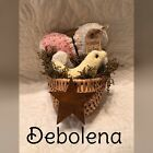 Primitive Easter Spring Wall Basket Gathering Sparkle In Everything Give Thanks