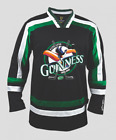 Guinness Toucan Black Green and White Hockey Jersey Pick Your Size