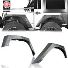 4Pcs Steel Armour Style Front Rear Fender Flares for Jeep Wrangler JK 2007 2018
