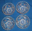 SET OF 4 ANCHOR HOCKING STAR OF DAVID CEREAL/SOUP BOWLS W/ SCALLOPED EDGES