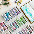 10pcs lot Ocean Stars Wisteria Floral Paper Masking Washi Japanese Tape Sticker