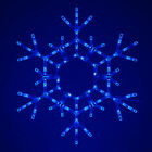 36 Blue LED Christmas Snowflake Outdoor Lighted Hanging Folding Decoration