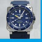BELL & ROSS BR03-92 DIVER BLUE Analog Watch from japan wrist