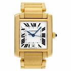 Cartier Tank Francaise W50001R2 18k Silver Guilloche dial 27.5mm Automatic...
