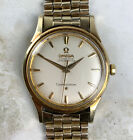 Vintage Omega Automatic Chronometer Constellation Wristwatch Solid 14kt Gold NR