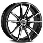 4pcs 15 NS Wheels Tunner NS1602 Black Machined Rims