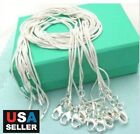 5pcs lot 925 Sterling Silver Plated Snake Chain Necklace 1mm 18 20 22 24
