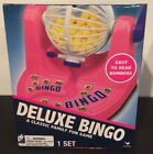Deluxe BINGO Game Set Pink Tumbler Balls Bingo Cards Markers Family Fun
