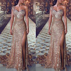 US Women's Formal Prom Long Sequin Dress Evening Party Cocktail Long Maxi Dress