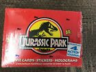 Jurassic Park Movie Cards Stickers Holograms Topps (1992) Sealed Box 36 PACKS