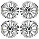 21 LINCOLN MKX RESERVE PVD CHROME WHEELS RIMS FACTORY OEM SET 4 2017 2018 10077