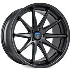 4New 19 Staggered Rohana Wheels RC10 Matte Black Rims FS