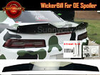 2 Pc Gloss Black Decklid Wing Wickerbill + Tool Fit 14 15 Camaro Factory Spoiler