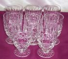 Waterford Ireland Irish Crystal 8 Footed Juice Glasses Tramore Pattern Mint