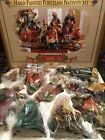 Grandeur Noel Hand Painted Nativity Set 9 Pieces 2003 Boxed Set Porcelain