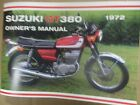 Suzuki GT380 owners manual 1972 GT380J