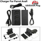For Parrot ANAFI Drone Multi Batteries Balance Fast Charger AdapterCar Charger