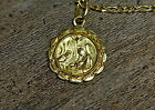 14Kt Yellow Gold Nativity Pendant Necklace
