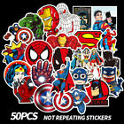50Pcs Stickers MARVEL Avengers Super Hero DC For Car Laptop Skatboard Case Decal
