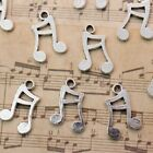 10 PCS Music Note Charms Music Note Antiqued Silver Tone 7x13mm Making DIY