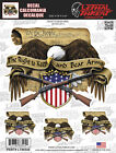 Lethal Threat Eagle USA US Flag Bear Arm Sticker Motorcycle Windshield Fairing