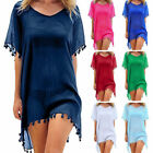 US Women Beach Dress Cover Up Kaftan Sarong Summer Wear Swimwear Bikini Dress DS