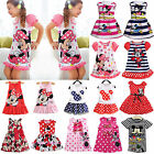 Summer Girls Kids Baby Princess Dress Mickey Minnie Mouse Cartoon Party Dresses