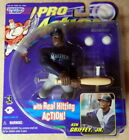 (2) 1998 STARTING LINEUP PRO ACTION KEN GRIFFEY JR GREG MADDUX BRAVES MARINERS
