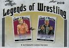 2018 LEAF Legends Of Wrestling Collector Card Hobby Box = 8 Auto Cards Per Box!