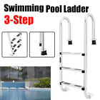 IN Ground Swimming Pool Ladder Heavy Duty 3Step System Entry Non slip Footstep