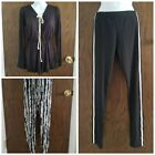 Boutique Cheap Clothing Lot Of 3: Black Pants, Rompers, Size Small (Brand New)