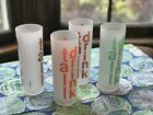 's Frosted Tumblers TALL DRINK By Morgan 4 Retro Barware