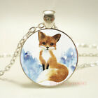 1pcs Cute Fox Tibet silver pendant chain Necklace For Women Jewelry gift