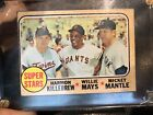 1968 Topps Super Stars #490 (Mickey Mantle) Willie Mays Baseball Card