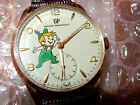 RARE GIRARD PERREGAUX~SWISS 18CT GOLD Plated~JETSON ELROY~ONE OF A KIND WATCH