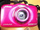 Nikon COOLPIX S32 13.2MP Digital Camera -PINK IN VERY GOOD CONDITION