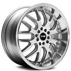 4 set 15 NS Wheels Tunner NS9002 Silver Machined Face and Lip Rims