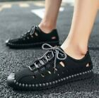 Mens Lace Up Driving Hollow Moccasins Sneakers Loafers Breathable Shoes Ske15