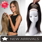 Women Hair Piece Topper Hairpiece Human Hair Top Wig Toupee Thinning Hair P061
