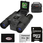 Vivitar 12x25 Binoculars with Built in Digital Camera  32GB Card Bundle