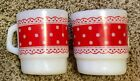 PAIR OF FIRE KING POLKA DOT COFFEE MUGS-EXCELLENT CONDITION!
