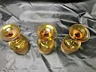 Vintage Libbey Americana Amber Wine glasses, Flower Scroll Pattern, Set of 3