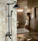 Black Oil Rubbed Brass Bath&Tub Rain-style Shower Faucet Mixer Tap Set srs681