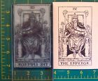 UM Tarot Card rubber stamp 4 The Emperor full size