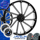 Rotation Javelin Darkside Custom Motorcycle Wheels Package Harley Touring Bagger