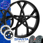 Rotation Sparta Black Custom Motorcycle Wheels Package Harley Touring Baggers