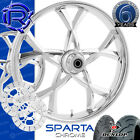 Rotation Sparta Chrome Custom Motorcycle Wheels Package Harley Touring Baggers