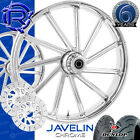 Rotation Javelin Chrome Custom Motorcycle Wheels Package Harley Touring Baggers