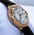 Cartier Ballon Bleu Jumbo 42mm W6900651 18K Rose Gold Leather Watch *UNWORN*